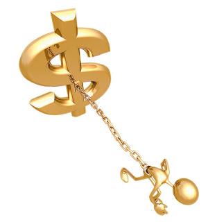 atado al dinero