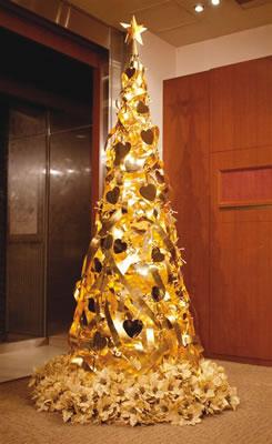 Arbol navidad de oro