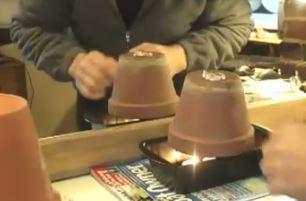 Calentar casa macetas velas 3