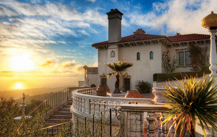 hearst mansion vistas